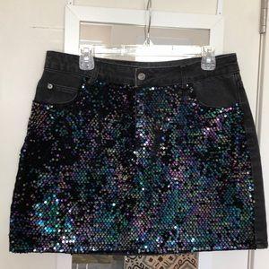 Top Shop mini jean skirt